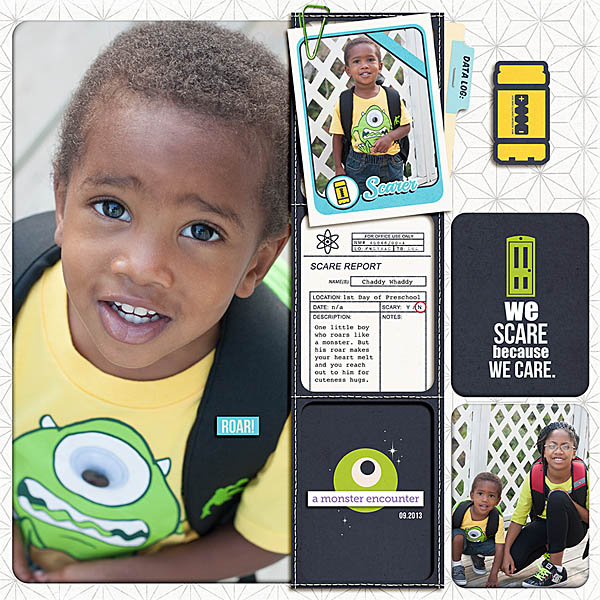 Disney Monster Inc encounter digital project life page by tiffanytillman featuring Project Mouse (Tomorrow) by Britt-ish Designs and Sahlin Studio