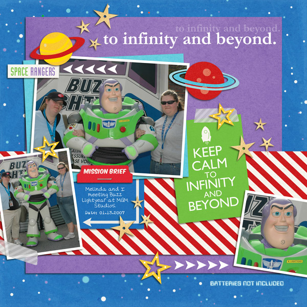 Disney's Buzz Light Year Meet and Greet digital scrapbook page by yzerbear19 featuring Project Mouse (Tomorrow) by Britt-ish Designs and Sahlin Studio