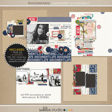 Documentary (Layered Quickpages) - Back to School / Autumn / Fall Digital Scrapbooking by Sahlin Studio