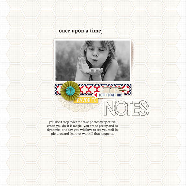Notes digital scrapbook layout by 3littleks featuring We Are Storytellers Word Art by Sahlin Studio