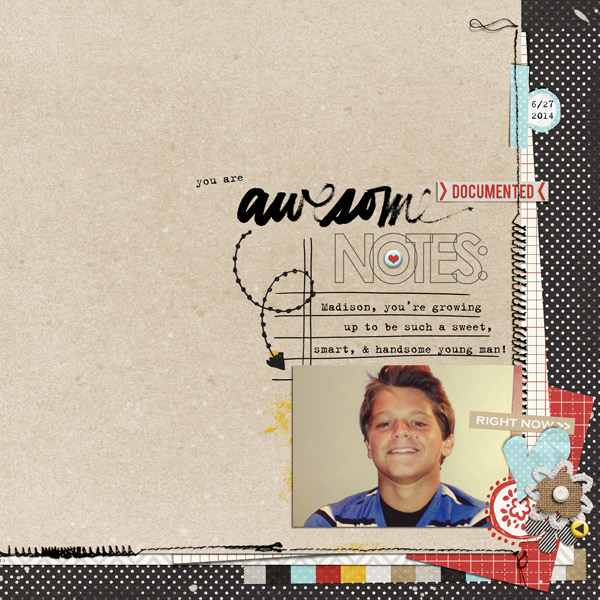 You are awesome digital layout by Brandi featuring We Are Storytellers Word Art by Sahlin Studio