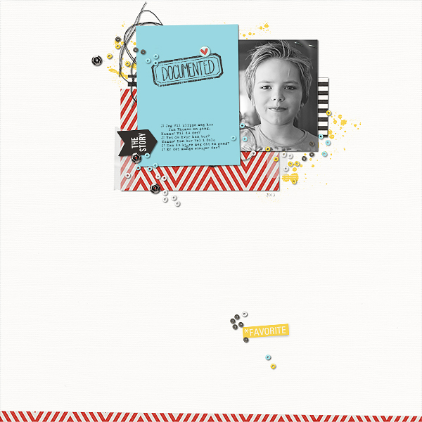 Documented digital scrapbook layout by Chey featuring We Are Storytellers Word Art by Sahlin Studio