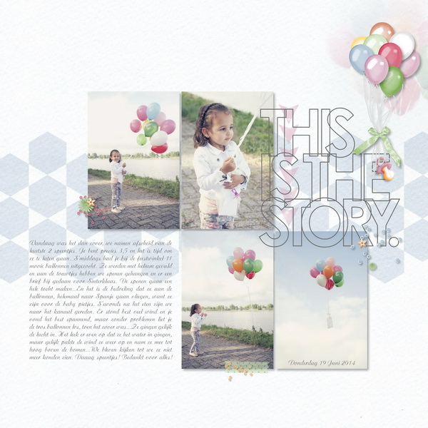 This is the story digital scrapbook layout by milo82 featuring We Are Storytellers Word Art by Sahlin Studio