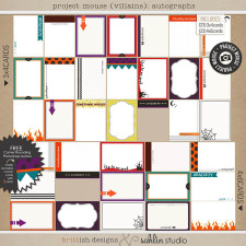 Project Mouse: (Villains) Autograph Cards by Britt-ish Designs and Sahlin Studio - Perfect for in your Disney Project Life or pocket scrapbook albums for villains or Halloween!