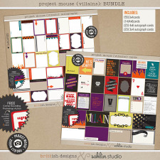 Project Mouse: Villains Journal Cards by Britt-ish Designs and Sahlin Studio - Perfect for in your Disney Project Life or pocket scrapbook albums for villains or Halloween!