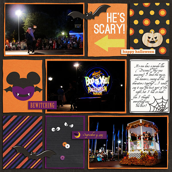 Disney Halloween digital project life page by MelanieB featuring Project Mouse: Villains by Britt-ish Designs and Sahlin Studio
