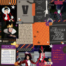 Disney Mickey's Not So Scary Halloween Party digital Project Life page by MelindaS featuring Project Mouse: Villains (cards & autographs) by Britt-ish Designs and Sahlin Studio