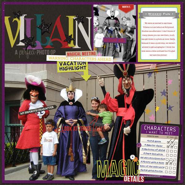 Disney Villains Meet and Greet digital scrapbook page by PuSticks featuring Project Mouse: Villains by Britt-ish Designs and Sahlin Studio
