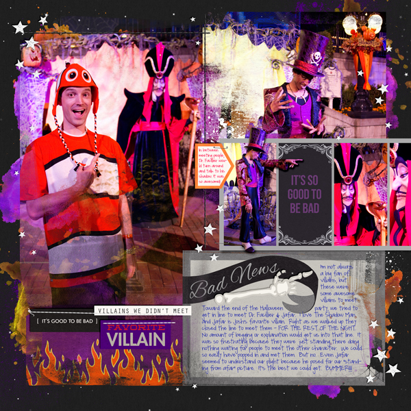 Disney Villains Meet and Greet digital project life by britt featuring Project Mouse: Villains by Britt-ish Designs and Sahlin Studio