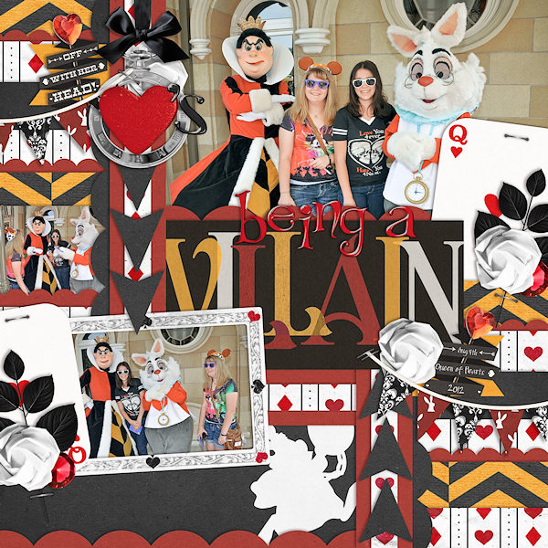 Disney Meet and Greet with Queen of Hearts and Rabbit by wendy featuring Project Mouse: Villains  (cards & autographs) by Britt-ish Designs and Sahlin Studio