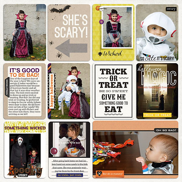 Trick or Treat Project Life page by mrivas2181 featuring Project Mouse: Villains  (cards & autographs) by Britt-ish Designs and Sahlin Studio