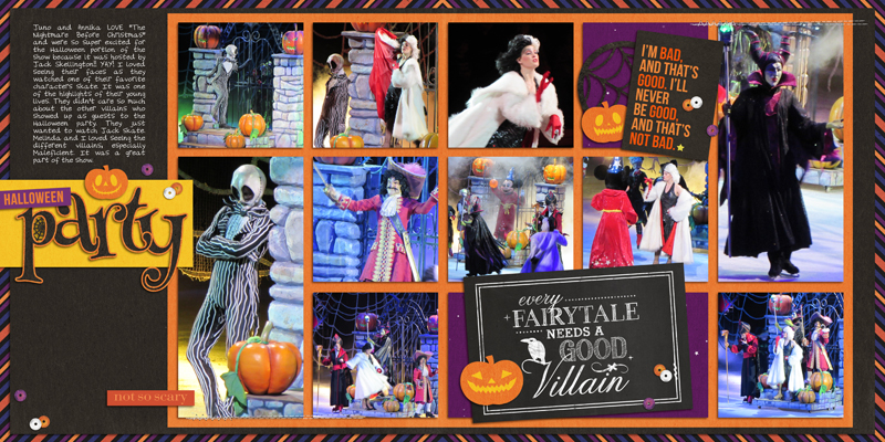 Disney's Halloween Party digital Project Life page by yzerbear19 featuring Project Mouse: Villains  (cards & autographs) by Britt-ish Designs and Sahlin Studio