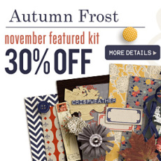 November Featured Kit - Autumn Frost by Sahlin Studio