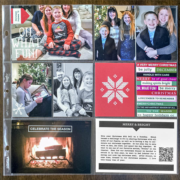 Christmas project life page by kristasahlin featuring making spirits bright: (collection) by sahlin studio