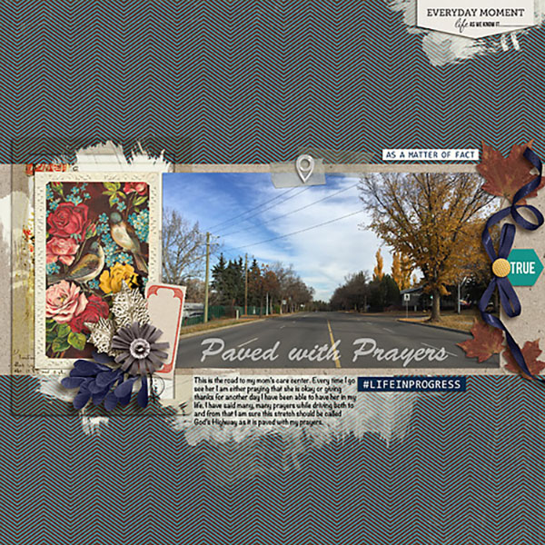 digital scrapbook layout created by Heather Prins featuring autumn frost by sahlin studio