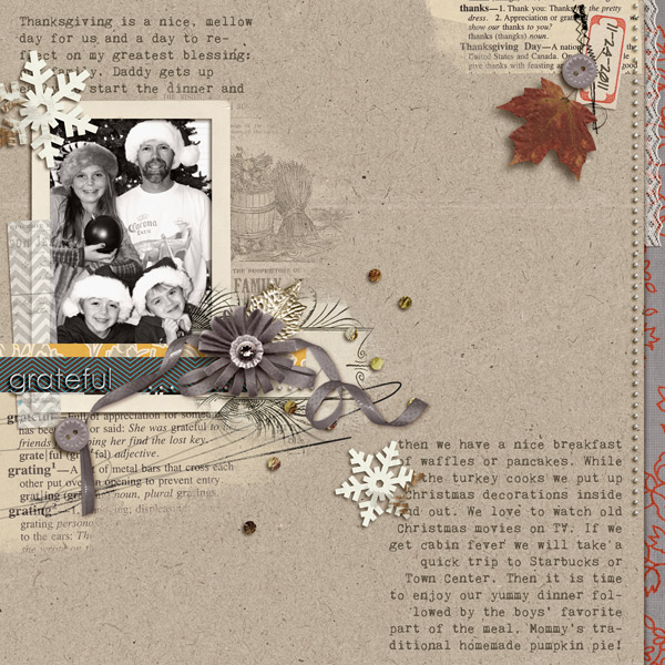 Fall digital scrapbook layout created by Davita featuring autumn frost by sahlin studio