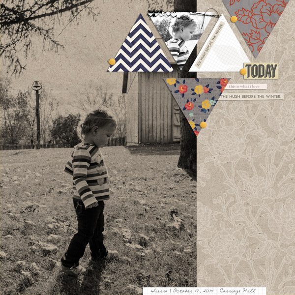 Autumn digital scrapbook layout created by EHStudios featuring autumn frost by sahlin studio