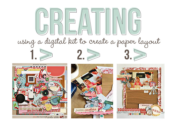 EASY STEPS in using a Digital Kit to Create a Paper Layout