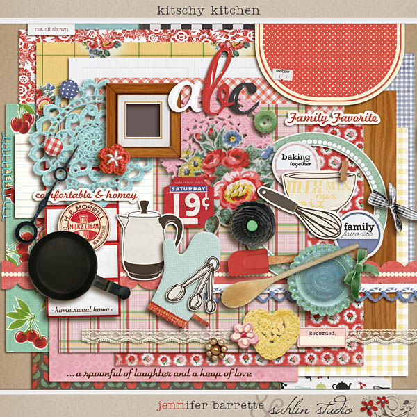 Kitschy kitchen freebie december 39 14 featured product for Kit kitchen designs