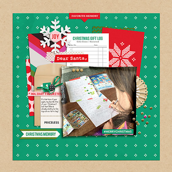 Christmas memory digital scrapbooking page by Heather-Prins  featuring making spirits bright: (collection) by sahlin studio