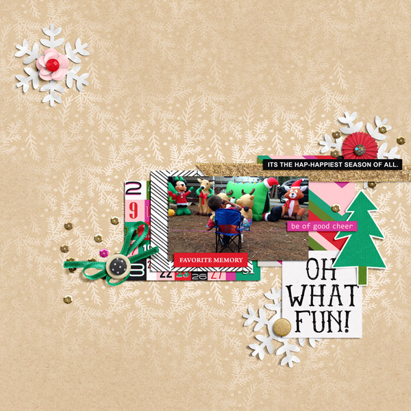 Oh What Fun digital scrapbook page by PuSticks featuring making spirits bright: (collection) by sahlin studio