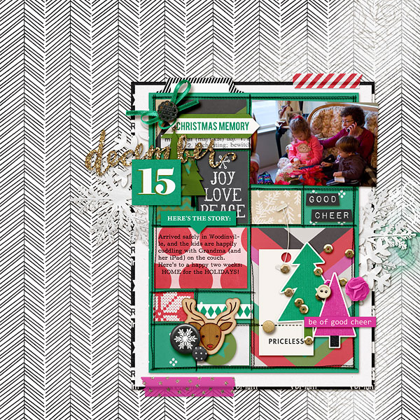 Christmas memory digital scrapbooking layout by amberr using making spirits bright: (collection) by sahlin studio