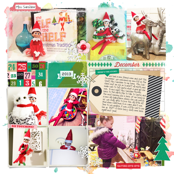 December digital pocket scrapbooking page by britt featuring making spirits bright: (collection) by sahlin studio