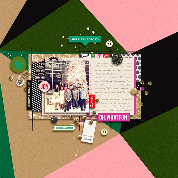 Oh What Fun digital scrapbook page by margelz featuring making spirits bright: (collection) by sahlin studio