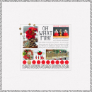 Oh What Fun digital scrapbook page by rlma featuring making spirits bright: (collection) by sahlin studio
