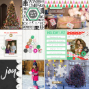 Christmas Holida Project Life page by aballen using Memory Pocket Monthly Subscription | Joy Perfect for using in your Project Life album!