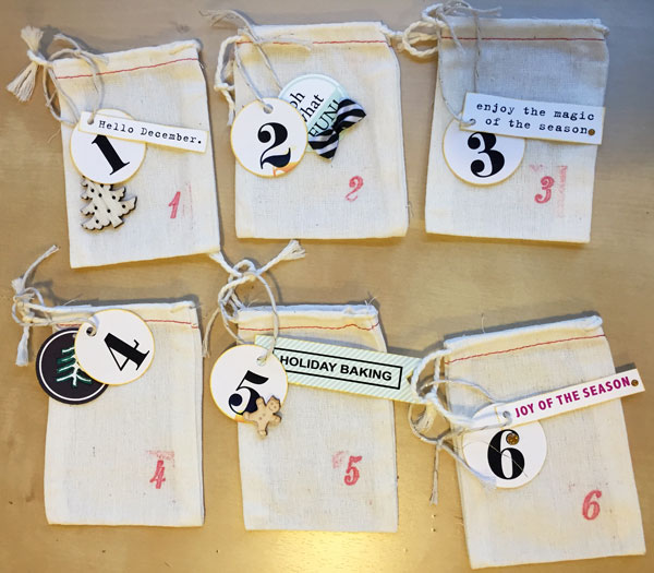 Christmas Holiday Advent Gift Bags by editorialdragon using Memory Pocket Monthly Subscription   Joy Perfect for using in your Project Life or December Daily album!