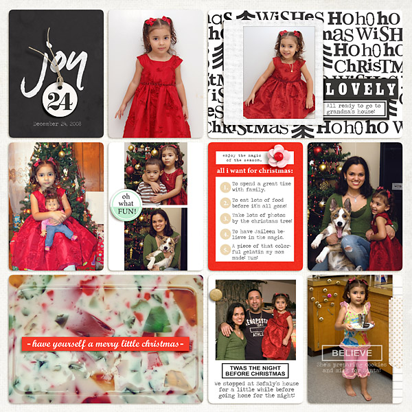 Christmas Holida Project Life page by mrivas2181 using Memory Pocket Monthly Subscription | Joy Perfect for using in your Project Life or December Daily album!