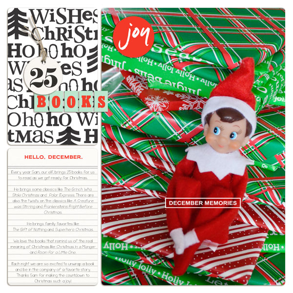 Christmas Holiday digital scrapbook page by plumdumpling using Memory Pocket Monthly Subscription   Joy Perfect for using in your Project Life or December Daily album!