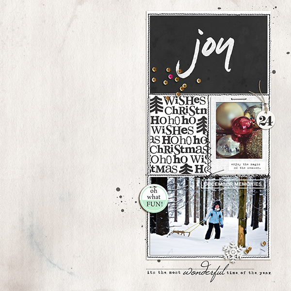 Christmas Holiday digital scrapbook page by sucali using Memory Pocket Monthly Subscription | Joy Perfect for using in your Project Life or December Daily album!