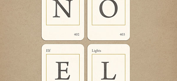Vintage Christmas Alphabet Cards - NOEL FREEBIE by Sahlin Studio
