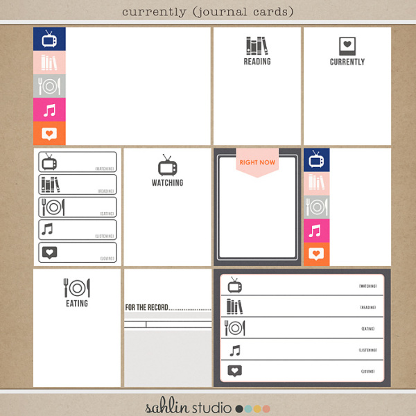 Currently (Journal Cards) by Sahlin Studio