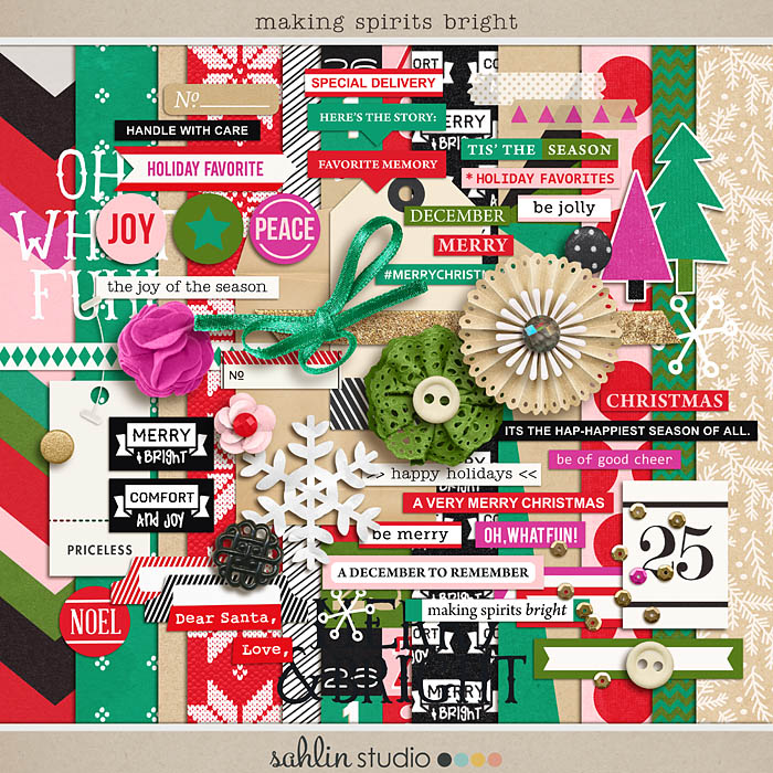 making spirits bright: (kit) by sahlin studio Perfect for using in your December Daily or Project Life albums!