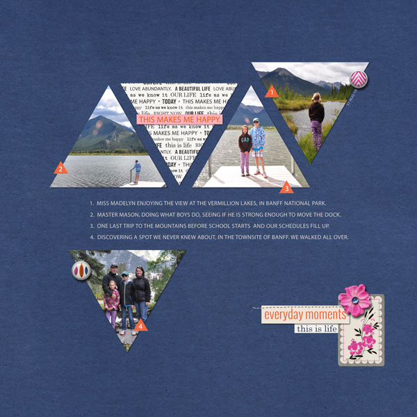 FUN Triangle digital scrapbook layout created by ctmm4 featuring template and products by sahlin studio