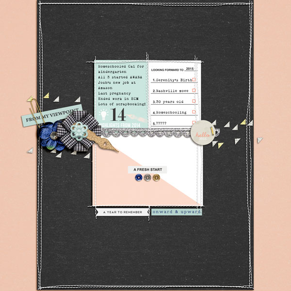 A Fresh Start digital scrapbook page by editorialdragon using Memory Pocket Monthly Subscription | Folio Perfect for using in your Project Life