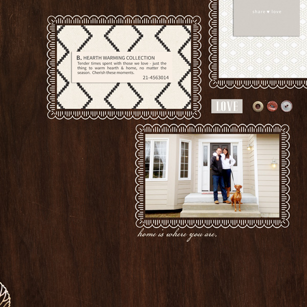 Home Is Where You Are digital scrapbook page by EHStudios featuring Chesterfield Kit by Sahlin Studio
