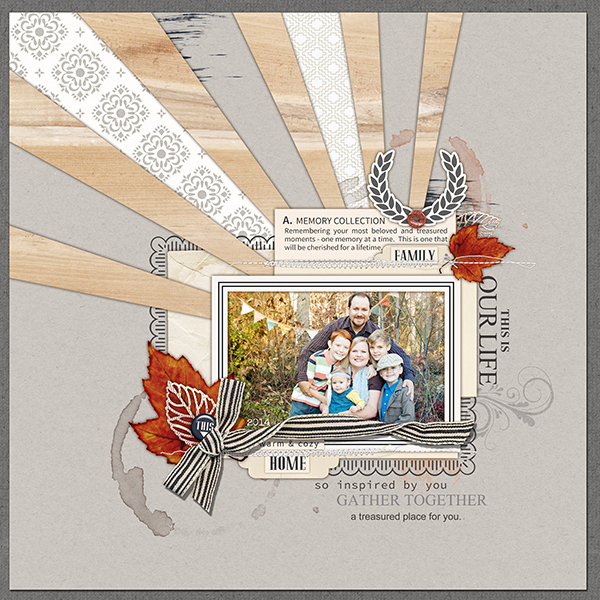 This Is Our Life digital scrapbooking page by amymallory featuring Chesterfield Kit by Sahlin Studio