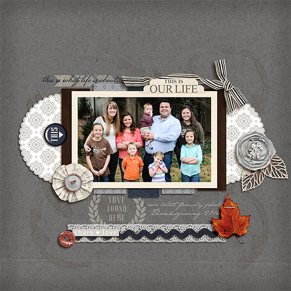 This Is Is Our LIfe Digital scrapbook page by kv2av featuring Chesterfield Kit by Sahlin Studio