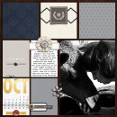 October digital pocket scrapbooking page by mimisgirl featuring Chesterfield Kit by Sahlin Studio