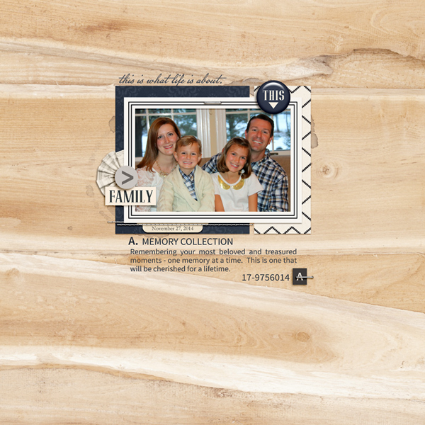 Family digital scrapbook page by rlma featuring Chesterfield Kit by Sahlin Studio