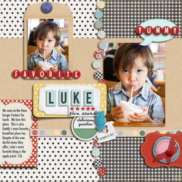 digital scrapbooking layout created by mikinenn featuring the Sahlin Studio December 2014 FREE Template