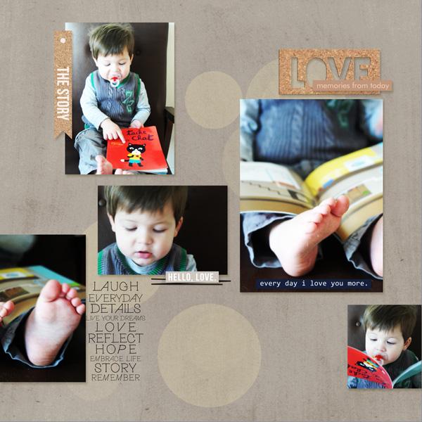 digital scrapbooking layout created by MlleTerraMoka featuring the Sahlin Studio December 2014 FREE Template