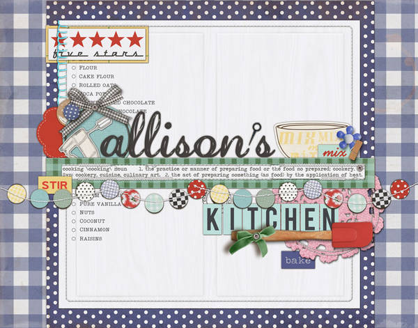 Wall Art for Allison by quietgirl created using Kitschy Kitchen by Sahlin Studio and Jenn Barrette