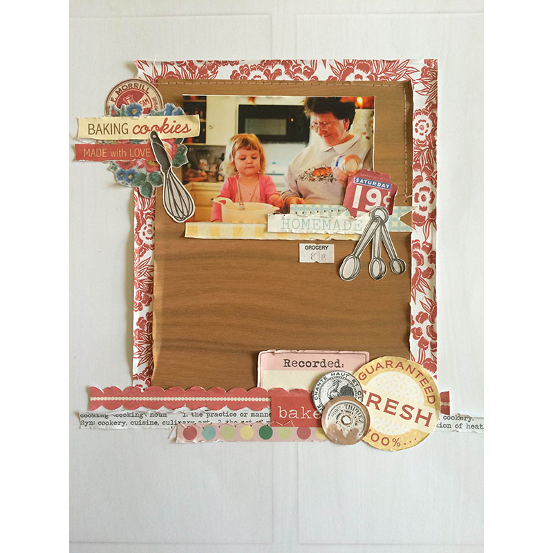 Baking Paper Layout by 3littleks using Kitschy Kitchen by Jennifer Barrette and Sahlin Studio