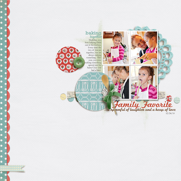 Family Favorite Recipes digital Layout by rlma using Kitschy Kitchen by Jennifer Barrette and Sahlin Studio