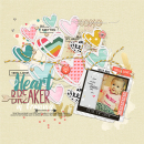 Heartbreaker digital scrapbooking page by amymallory using MPM Hello and Add Ons by Sahlin Studio